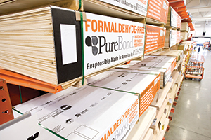 PureBond project panels at Home Depot
